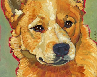 Australian Cattle Dog No. 2 - magnets, coasters and art prints in four sizes