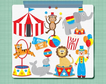 Circus Clip Art - Digital Carnival Clipart Personal & Commercial Use INSTANT DOWNLOAD