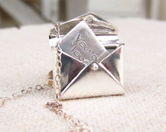Personalized Womens Jewelry - Letter Locket - ACTUAL Handwriting Jewelry -  Valentine's Jewelry -  Mother's Jewelry