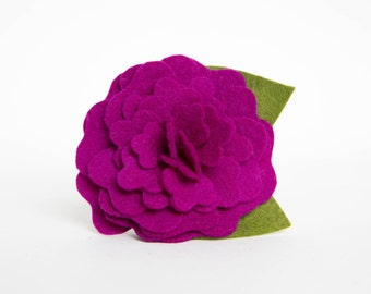 Dog Collar Flower - Plum Camellia