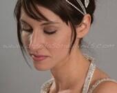 Rhinestone Hair Wrap, Bohemian Style Headband, Wedding Head Wrap, Silver or Gold Color - Ella