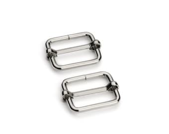 "10pcs - 3/4"" Adjustable Slide Buckle - Nickel - Free Shipping (SBK-112)"