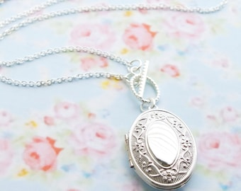 Long Locket Necklace - Womens