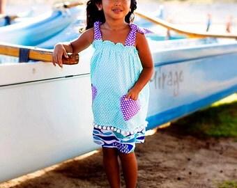 Turquoise Beach Dress - Purple Dress - Maxi Dress