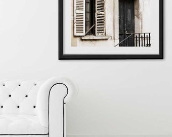 "SALE! Paris Print, ""Black Door"" Extra Large Wall Art, Paris Photography Art Print, Oversized Art, Fine Art Photography Paris Decor"
