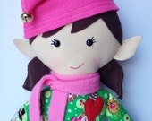 Plush Elf Cloth Doll - Tinsel - LittleLuckies2