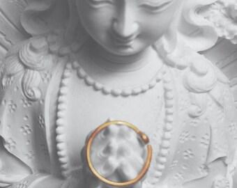 Slender 22 gauge 14k rose gold nose ring hoop, snug and dainty nose ring hoop, simple rose gold nose hoop