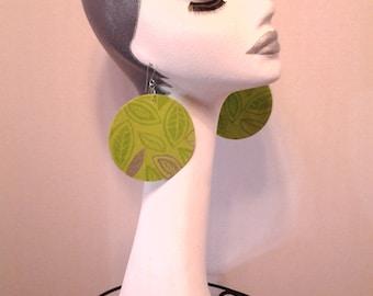 Pretty Multiple Colors Womens Fabric Earrings, Women Earrings, Fashion Earrings, Fabric Earring, Large Earrings