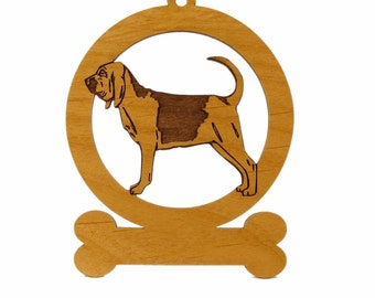 Bloodhound Standing Ornament 081792 Personalized With Your Dog's Name