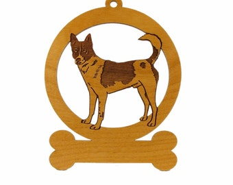 Canaan Stack Ornament 082061 Personalized With Your Dog's Name