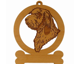 PBGV Head Ornament 083689 Personalized With Your Dog's Name
