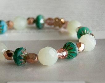 Dew - beaded elastic bracelet