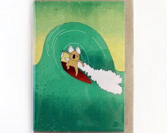 Greeting card  - surfing koala