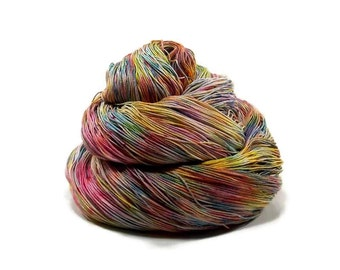 300 Yards Hand Dyed Cotton Crochet Thread Size 10 3 Ply Specialty Thread 7 Colors of the Rainbow Hand Painted Fine Cotton Yarn
