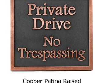 """Private Drive No Trespassing Sign 14""""W x 13H"""" by Atlas Signs and Plaques"""