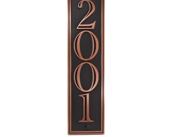 Hesperis Vertical Address Plaque for taller spaces  5 x 25 inches, up to 5 numbers