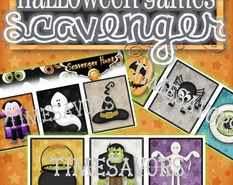 Halloween Scavenger Hunt Game - INSTANT DOWNLOAD