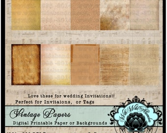Wedding Invitation Papers, Invitation Backgrounds, ACEO, Digital Art, Blank Hang Tags,  Wedding