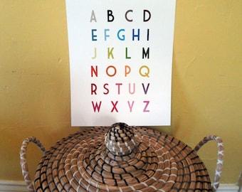 English Uppercase Alphabet Poster 11x14