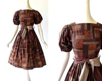 Vintage 1950s Dress / Die Romantische / 50s Dress / XXS