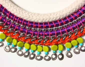 BOCAGRANDE colorful statement necklace with magnetic clasp