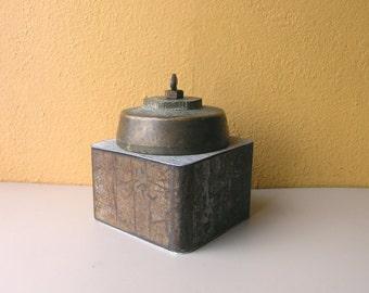Wedding Gift, Keepsake Box, Industrial Salvage, Shelf Decor, Bedroom Organizer, trinket box, heirloom box, treasure box, industrial pipe