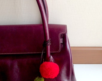 Pom Pom Bag Decor, purse, handbag, bag charm, pom pom charm, decoration, decorating, charm, accessories, accessory, fringe, tassel, belt