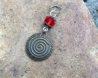 Birth Spiral Mother Blessing Charm (blessingway, birth altar, mothers, birthing, doula, midwife)