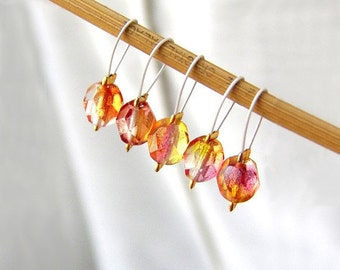 Fragrant Rose Petals - Five Snag Free Sitch Markers - Fits Up To 4.75mm (7 US) - Limited Edition
