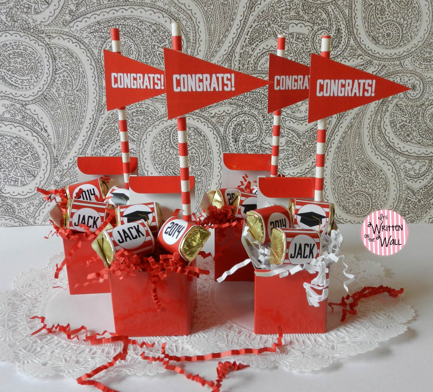 Personalized Graduation Party Favor / By ItsWrittenOnTheWall