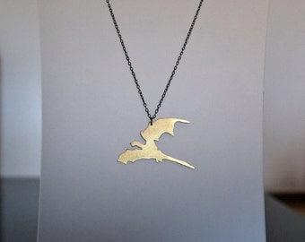 House Targaryen Necklace, Game of Thrones Jewelry, Dragon Jewelry,  Daenerys Necklace, Khaleesi Costume, Geek Jewelry, Gifts for Geeks