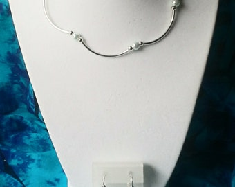 NECKLACE Earrings Easy On Easy Off Powder Blue