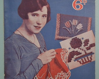 Fancy Needlework Lady's Companion Household Series No. 6 UK vintage 1920s 1930s sewing book 20s 30s embroidery applique cross stitch