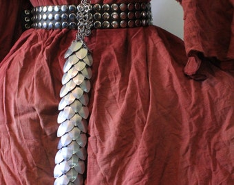 Silver Scalemail small DRAGON TAIL Dragon Scale chainmail armor LARP Cosplay