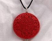 Red Cinnabar Pendant...