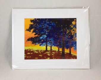 Blue Trees - Print