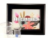Science Name Sign// Custom Chemistry Periodic Table of Elements// Floral Abstract, Handmade, Wall Art