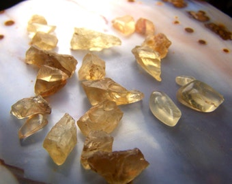 Oregon Sunstone crystal by the gram lot - natural gem mineral - small specimen raw rough tumbled polished - wire wrap stone - orange yellow
