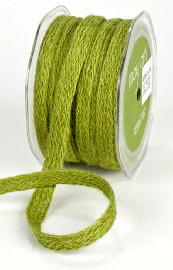 1 2 woven green burlap ribbon 5 yards for Green burlap ribbon