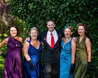 Tea Length Convertible Wrap Twist Dress...67 Colors, Bridesmaids, Tea Party, Wedding, Picnic, Beach, Honeymoon