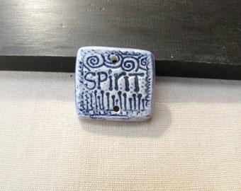 Spirit Pottery Shard blue Ceramic Shard Pendant Necklace Bracelet Jewelry supply #164