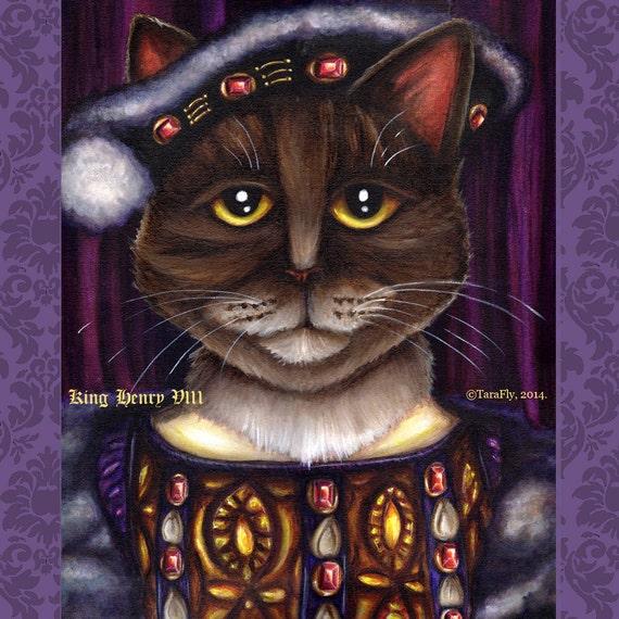 King Henry VIII Cat 5x7 Fine Art Print