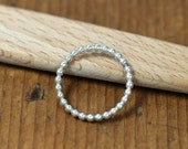 Sterling Bead Ring- Free Shipping