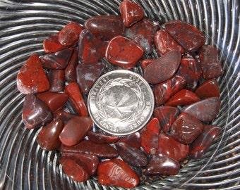 Newfoundland Labrador Red Jasper Tumbled and Polished Natural Gemstones Red Crafts Rock Art Mosaics