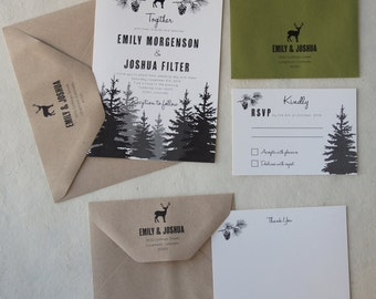 Woodland Wedding Invitation Suite