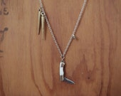 Baby Knife with Spikes & Pyrite Necklace