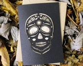 Lasercut Sugar Skull Greeting Card