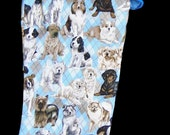 Christmas stocking for pets and pet lovers in blue for dogs