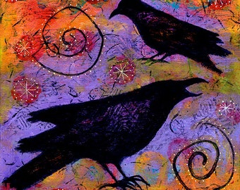 "Kindred Spirits Raven Gallery Wrapped Canvas Print 8"" x 8"", 12"" x 12"""