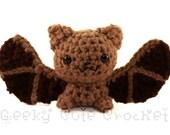 Big Brown Bat Amigurumi Crocheted Plush Toy